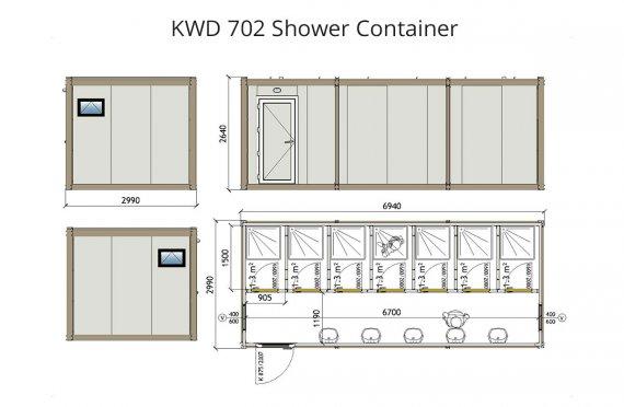 КВД 702 Туш контејнер