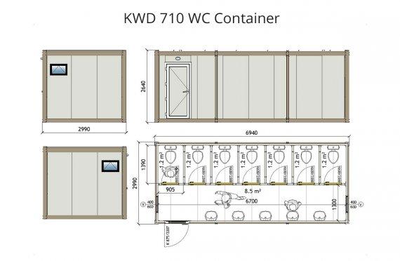 КВД 710 WC контејнер
