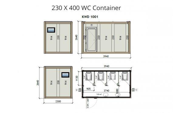 КВ2 230x400 wc контејнер