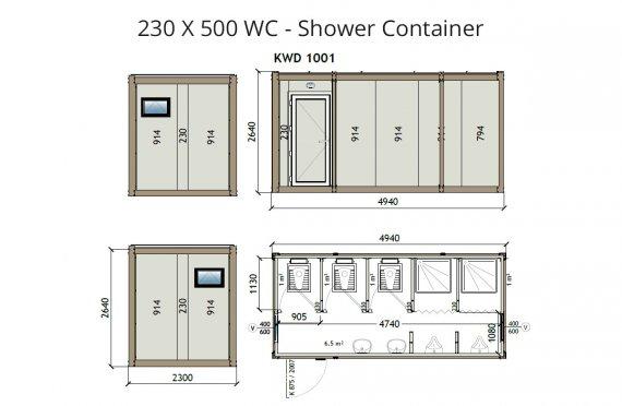 КВ2 230x500 Туш контејнер