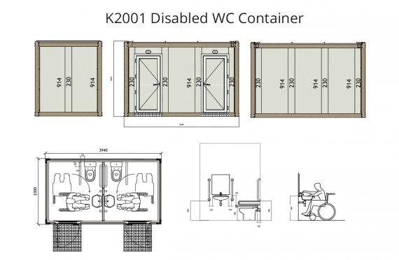К 2001 ВЦ контејнер за инвалиде