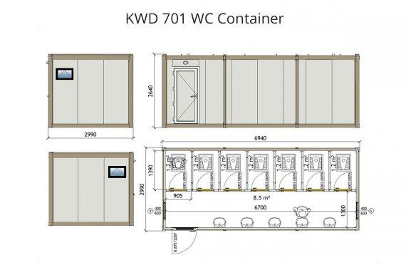 Кwd 701 wc контејнер