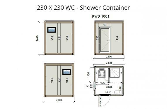 КВ2 230X230 Вц - Туш контејнер