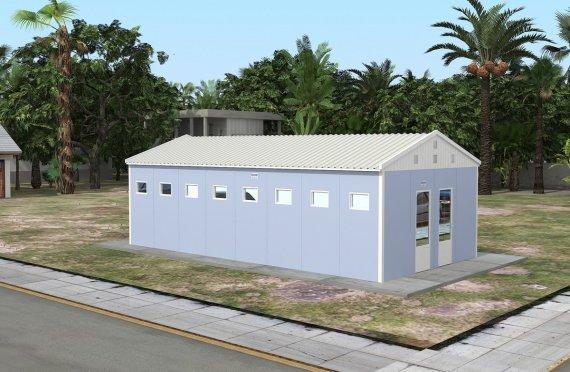 Монтажни тоалет и туш  зградa 52 м²