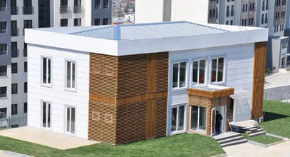 Луксузна префабрикована канцеларија продаје за Босфорус Сити пројекат